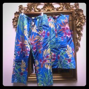 Natori tropical print pajamas